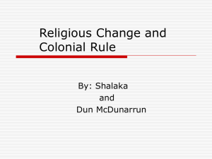 Religious Change and Colonial Rule