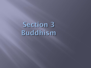 Section 3 Buddhism