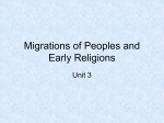 Migrations of Peoples and Early Religions