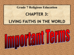 Religion Terms for Unit 3 and 4