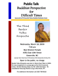Public Talk Buddhist Perspective for