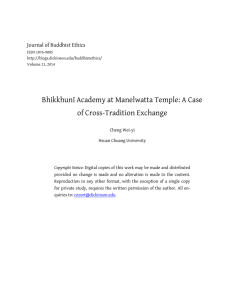 of Cross-Tradition Exchange Journal of Buddhist Ethics