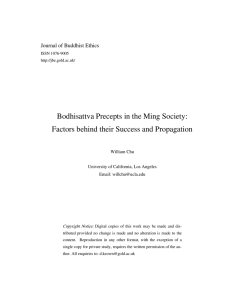 Bodhisattva Precepts in the Ming Society: Journal of Buddhist Ethics