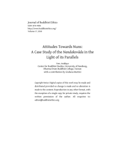 Attitudes Towards Nuns: Nandakovāda Light of its Parallels Journal of Buddhist Ethics