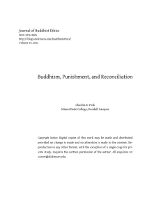 Buddhism, Punishment, and Reconciliation  Journal of Buddhist Ethics Charles K. Fink