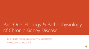 Etiology & Pathophysiology of Chronic Kidney Disease