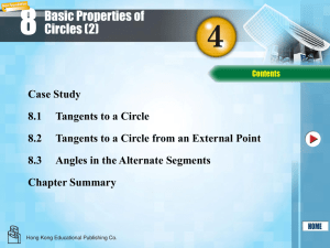 Book 4 Chapter 8 Basic Properties of Circles (2)
