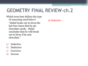 GEOMETRY FINAL REVIEW - Lakeside High School