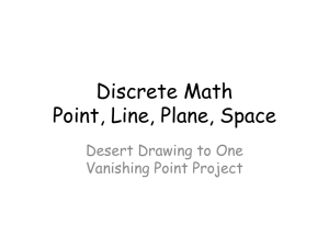 Discrete Math Point, Line, Plane, Space