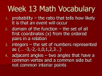 Week 13 Math Vocabulary