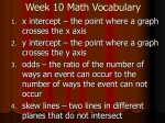 Week 10 Math Vocabulary