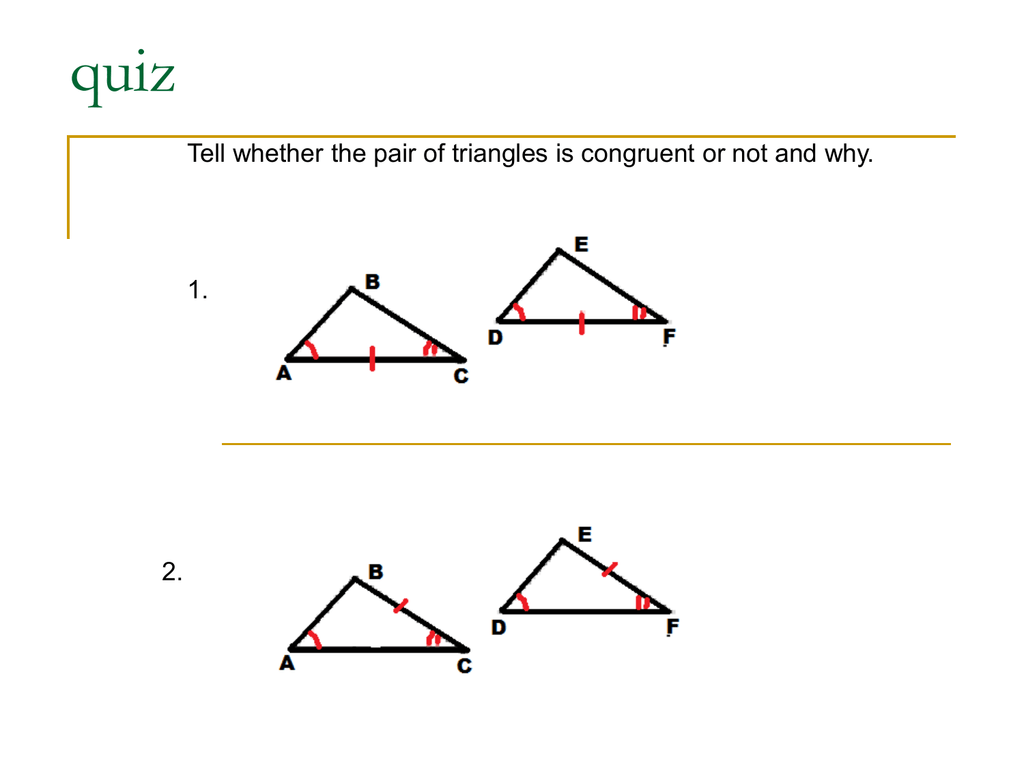 Corollary To The Base Angles Theorem