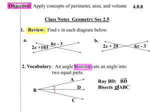 Class Notes Geometry Sec 2.5 Objective