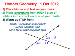 Geometry-1 Oct 2012- 2.6 Parallel Line - Shope-Math