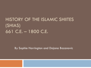 history of the islamic shiites (shias)