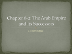 Chapter 6-2: The Arab Empire and Its Successors