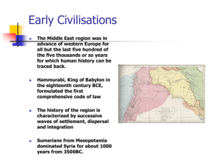 Early Civilisations - University of the Witwatersrand