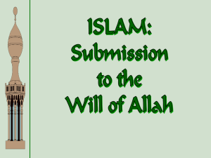 Islam-Submission to Allah