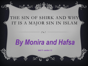 The sin of shirk and why it is a major sin in Islam