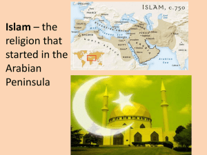 Islam – the religion that started in the Arabian Peninsula