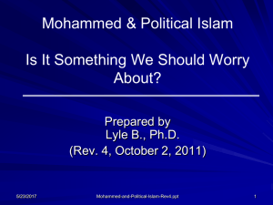 -- Political Islam -- Is it something we should worry about?