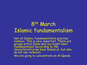 8th March Islamic fundamentalism