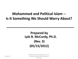 Political Islam -- Is it something we should worry