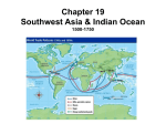 Chapter 19 Southwest Asia and the Indian Ocean