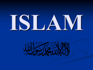 ISLAM - ReligiousSocialEducation