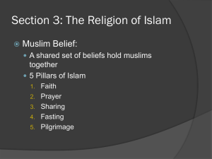 Section 3: The Religion of Islam