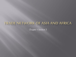 Trade Network of Asia and Africa
