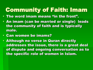 4 Community of Faith-Muslim Sects