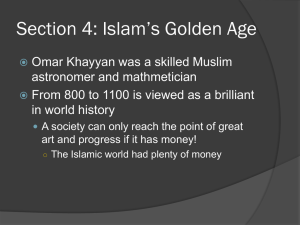 Section 4: Islam`s Golden Age