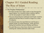 Chapter 10.1 Guided Reading The Rise of Islam
