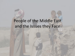 People of the Middle East and the Issues they Face