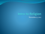 11-2 Intro to Religion