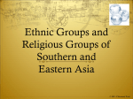 Ethnic Groups and Religions Groups