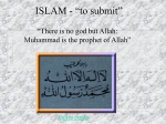 "ISLAM - ""to submit"""