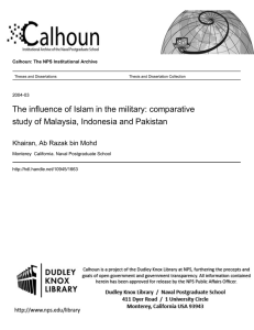 The influence of Islam in the military: comparative
