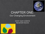 CHAPTER ONE: Our Changing Environment