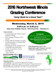 "2016 Northwest Illinois Grazing Conference ""Jump Start to a Good Year!"""