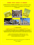 HOCHSCHULE OSNABRÜCK, UNIVERSITY OF APPLIED SCIENCES  INTERNATIONAL SUMMER UNIVERSITY, JULY 14-AUGUST 5