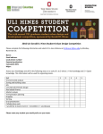 2016 ULI Gerald D. Hines Student Urban Design Competition