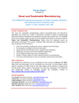 Smart and Sustainable Manufacturing Call for Papers