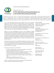 CALL FOR PAPERS Journal of Nanomaterials Special Issue on