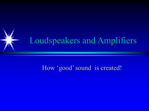Loudspeakers and Amplifiers