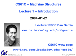 CS61C - Lecture 13 - EECS Instructional Support Group Home Page