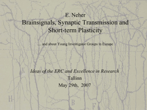 Brainsignals, Synaptic Transmission and Short