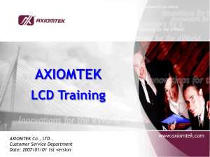 AXIOMTEK LCD Training