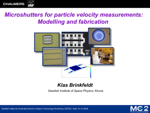 Microshutters for particle velocity measurements: Modelling and
